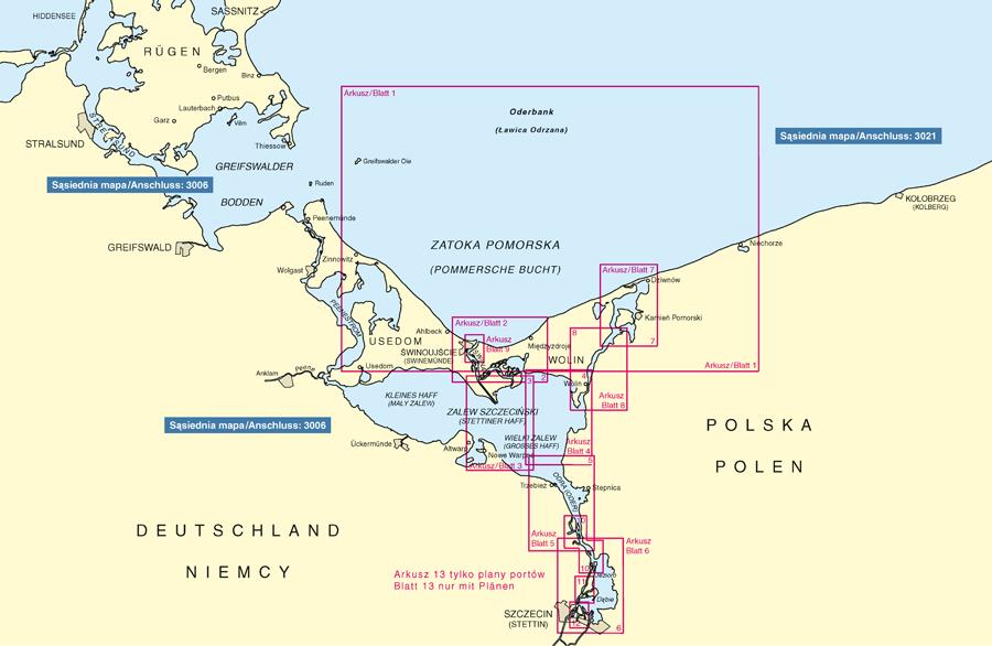 3020 Atlas Map Zatoka Pomorska I Zalew Szczecinski Sail Ho